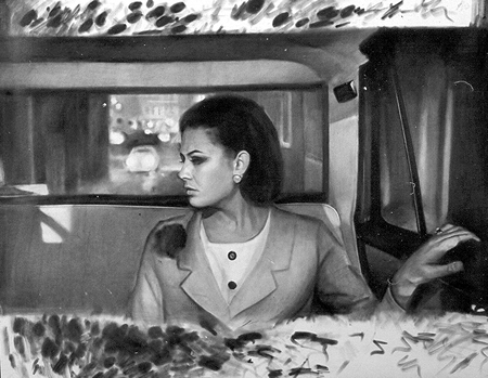 [photo of Olexander Wlasenko's drawing Claudia In Car ]