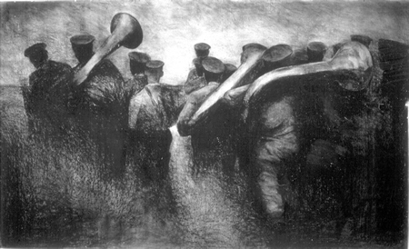 [photo of Olexander Wlasenko's drawing Musicians ]